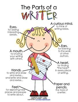 great anchor chart about a writer #daily5