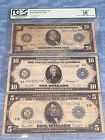 ♯≥ LOT OF #3 #RARE LARGE CURRENCY NOTES:ALL 1914: $5,$10,$20 #FRN BLUE SEAL... Great http://ebay.to/2x8o5MZ
