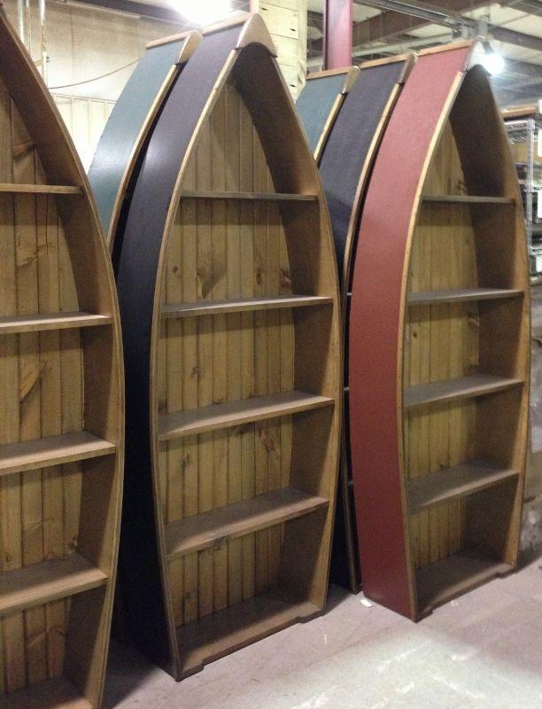 Canadian Woodcraft  - Boat Shelf - 7', $340.00 (http://www.canadianwoodcraft.ca/bookshelves/boat-shelf-7/)
