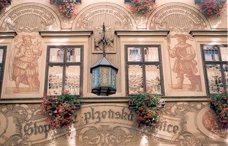 Facade along Ceska street, Brno -Czech Republic