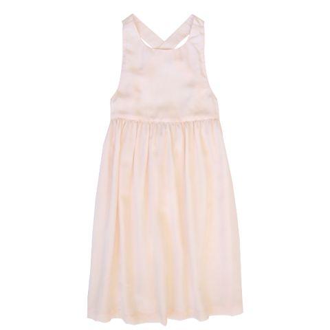 Minouche_Noelle silk pinafore - blush - The Child Hood