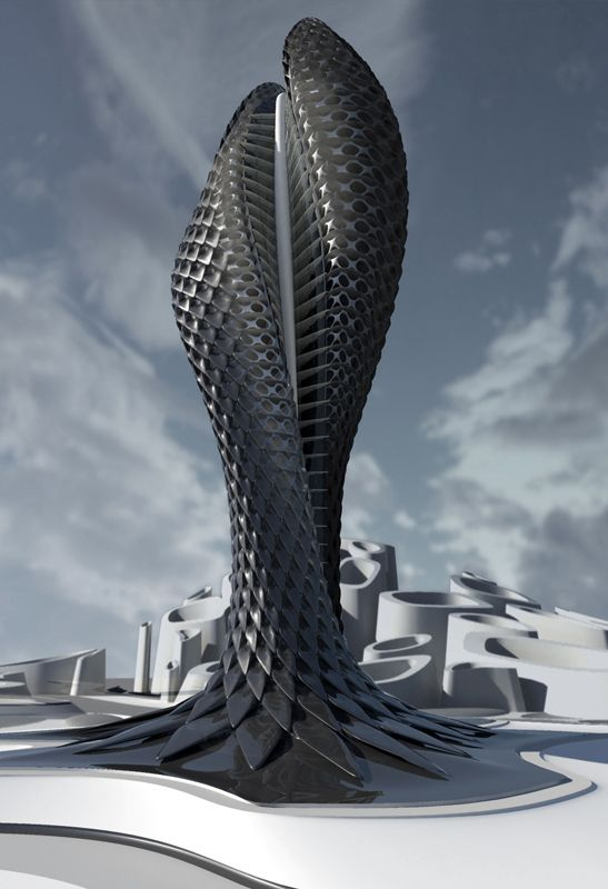Futuristic Tower by Daniel Widrig, Future Building - Barry Mann (@barryamann) | imging.me