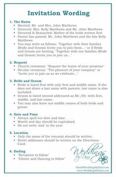 wedding invitation etiquette and wedding invitation wording | 21st - Bridal World - Wedding Ideas and Trends