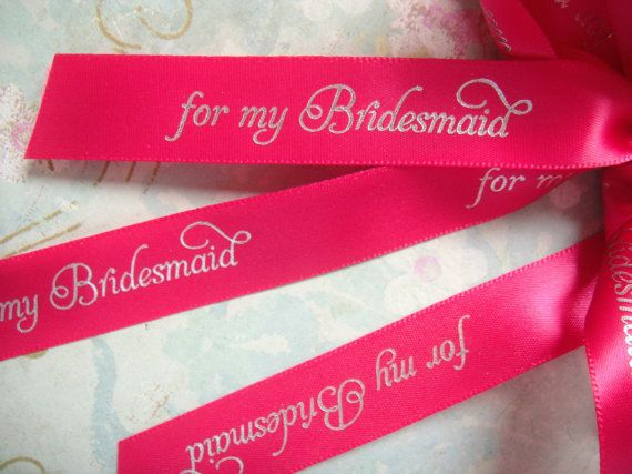 For My Bridesmaid Ribbon by regalribbons on Etsy