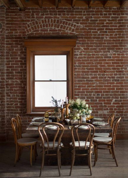 found rentals | elegant dining in old mill building