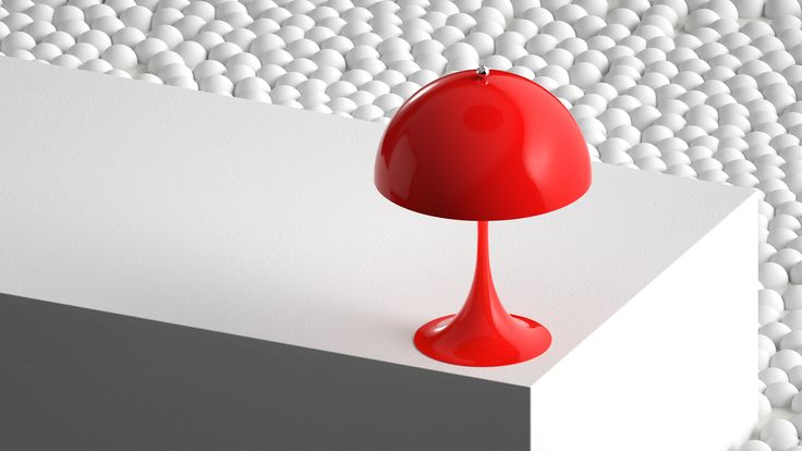 Here it's the Red version of Panthella MINI from our latest campaign video. Panthella MINI is a smaller version of Verner Panton's classic Panthella lamp from 1971.