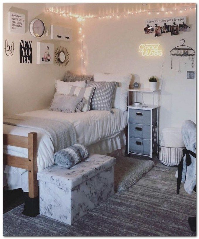 40 cute dorm room decorating ideas for girls that you need ... on Pretty Room Decor For Girl  id=58027