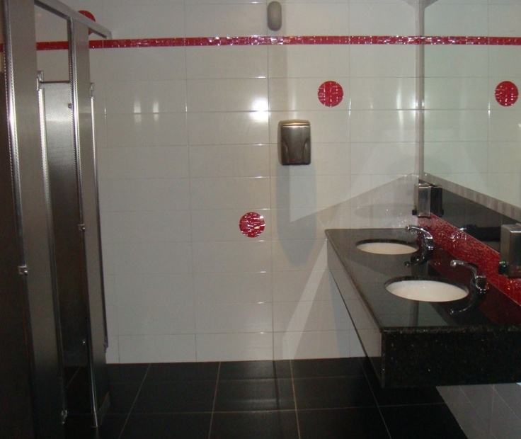 Hilton Curacao Casino and Resort in Curaco #Stainless Steel Diamond Finish #Toilet Partitions by www.lockersnmore.com