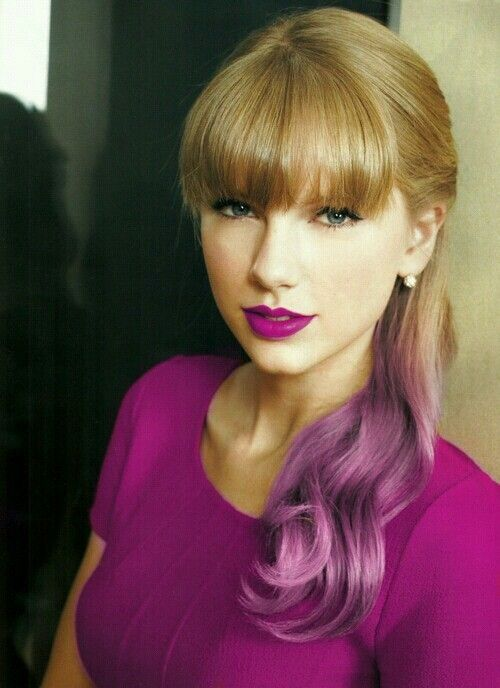 Taylor Swift should dye that part purple like whoa how cool