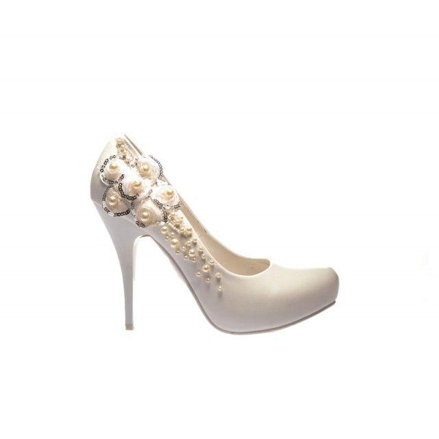Pantofi Maried Albi (Alb)