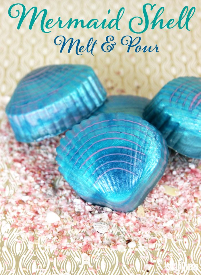 DIY: Mermaid Shell Melt and Pour Soap by Soap Queen at BrambleBerry