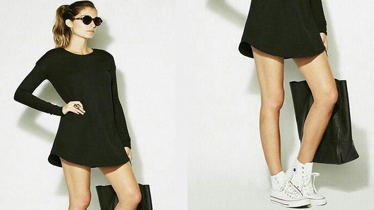 Vestidos Con Tenis |Converse |Outfits 2016
