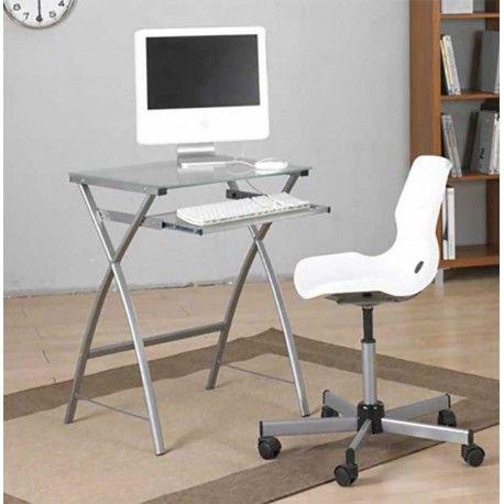¿No tienes mucho espacio para una Mesa de Escritorio o simplemente quieres una mesa de tamaño reducido para colocarla en un rincón? Esta Mesa de Ordenador es pequeña pero te permitirá tener tu ordenador recogido.