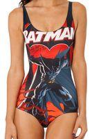 Amazon Suministro de Patrón de la Historieta de Batman body Mujeres de Una Pieza del traje de Baño Sexy Traje de Baño Cubrir el Ombligo Triángulo Playa