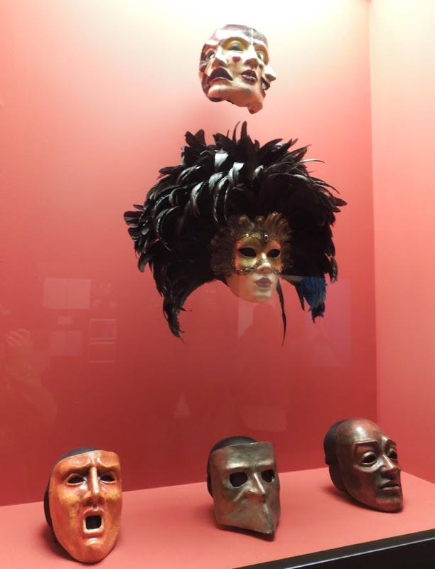 Eyes Wide Shut movie masks at the Stanley Kubrick exhibition at LACMA...