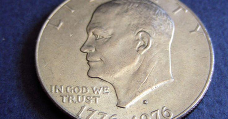 Valor de una moneda de un dólar de 1971. La moneda de un dólar de 1971 cuenta con el ex presidente Dwight D. Eisenhower en el frente y un águila reposando en la luna en el reverso. La moneda es de 38 mm de diámetro y fue acuñada en Filadelfia, Denver y San Francisco.