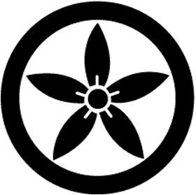 太田道灌の家紋(丸に細桔梗)