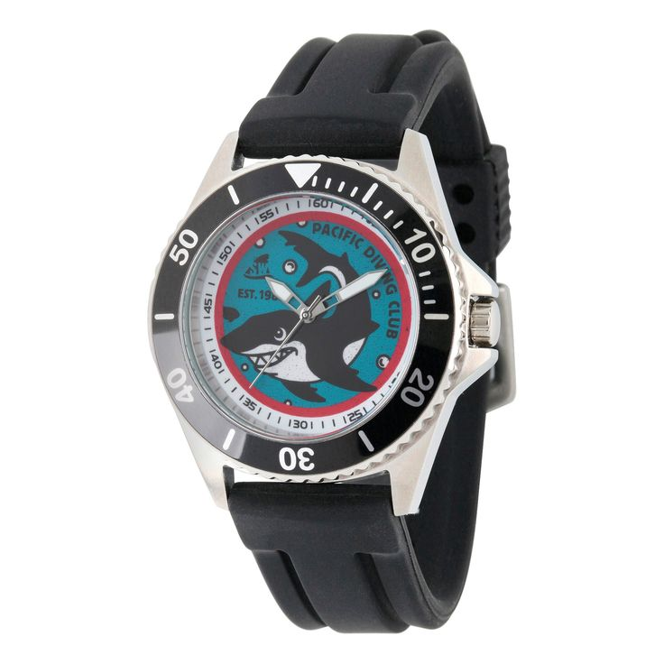 Men's Discovery Channel Shark Week Honor Stainless Steel Watch - Black