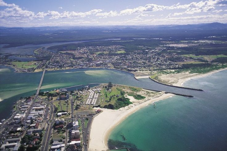 Aerial of twin towns Forster and Tuncurry. Image Brett Gregory