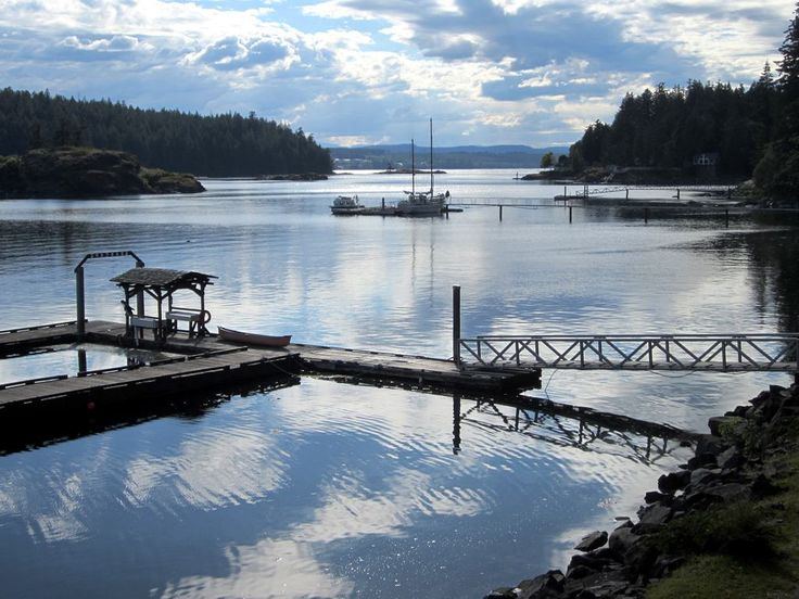Gowlland Harbour as seen from the Seascape Waterfront Resort on Quadra Island, British Columbia, Canada.