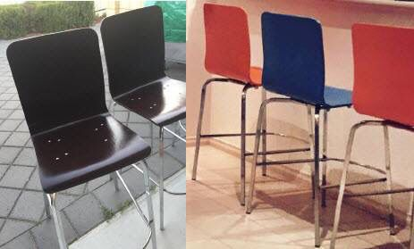 Recreating bar stools