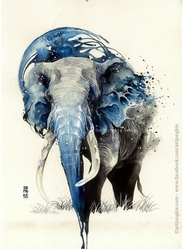 Watercolor paintings by Luqman Reza - ego-alterego.com