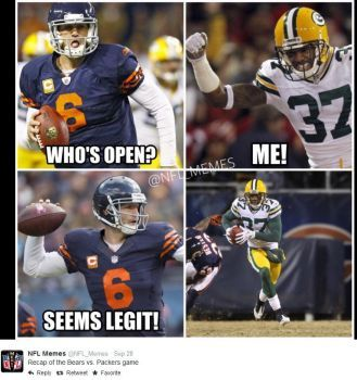 green+bay+packers+vs+chicago.bears+memes+images | ... 2014Green Bay Packers @ Chicago Bears, Score: 38-17Photo by @NFL_Memes