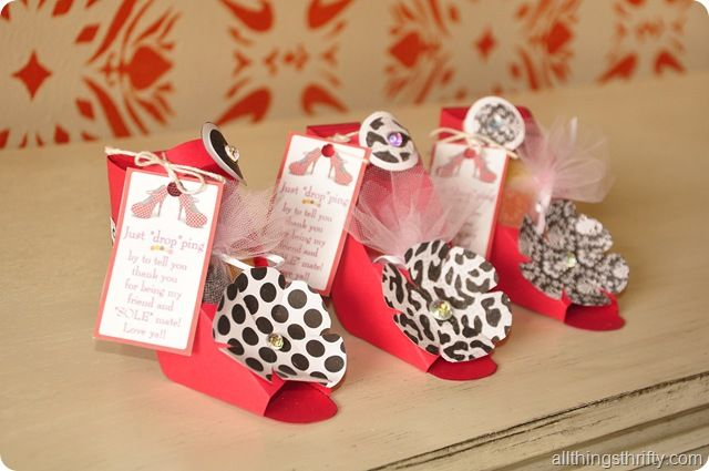 These paper shoes would be so cute as shower favors
