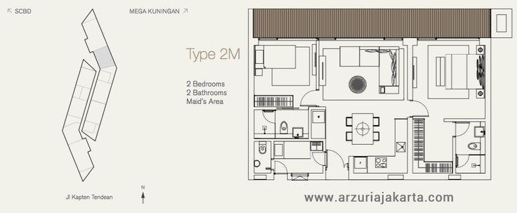 Type 2M Apartemen Arzuria Tendean Jakarta