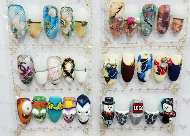 So many designs are trending in Asian nail art. Too cute!~