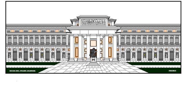 Museo del prado de madrid y m s edificios del mundo para colorear e ilustrar pinterest - La casa del puzzle madrid ...