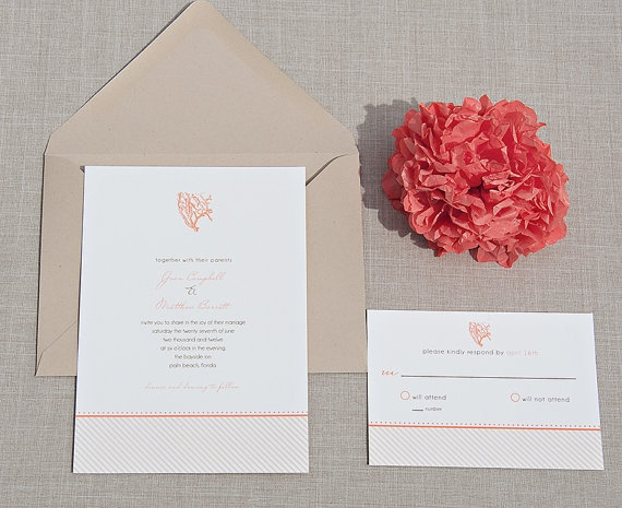 Wedding Invitations Coral Color: 89 Best Coral/Teal Wedding Images On Pinterest