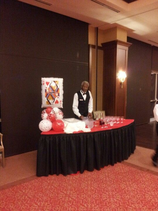 Casino Party Drink Table Party Decorations From The