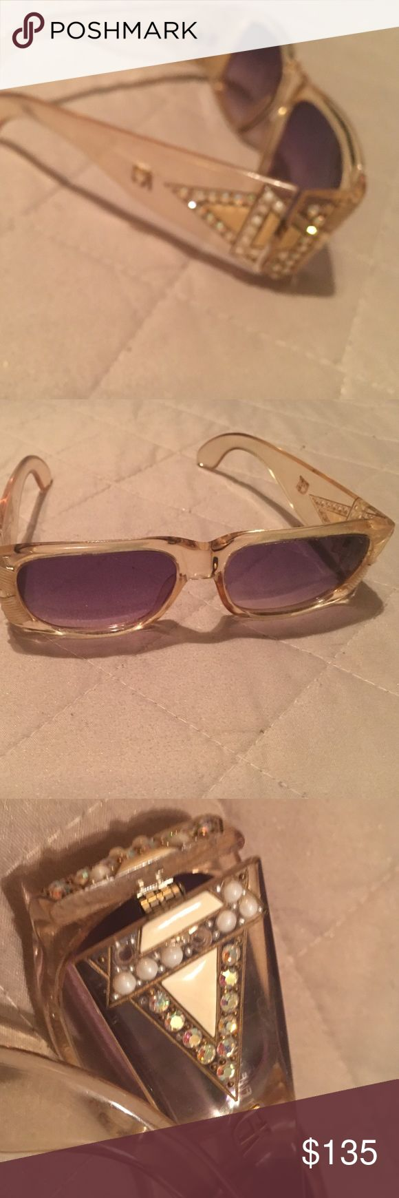 Vintage Emmanuel Khan  Sunglasses Star David in diamonds and pearls very gorgeous over 30 years young missing a few stones can be replaced would make great reading glasses emmanuel khan  Accessories Sunglasses
