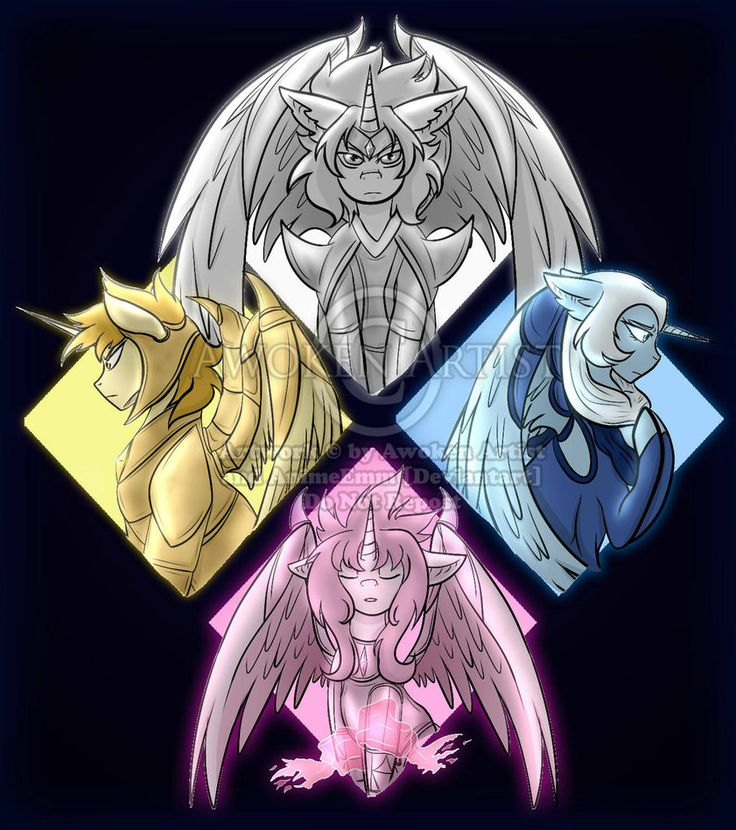 Steven Universe MLP Version: The Diamonds by AnimeEmm.deviantart.com on @DeviantArt