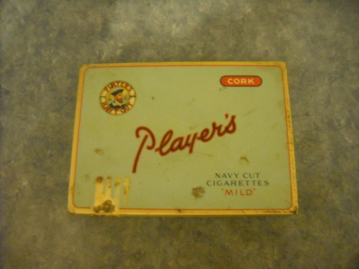 VINTAGE PLAYER'S NAVY CUT CIGARETTES MILD CORK TIP TIN IMPERIAL TOBACCO CANADA | eBay
