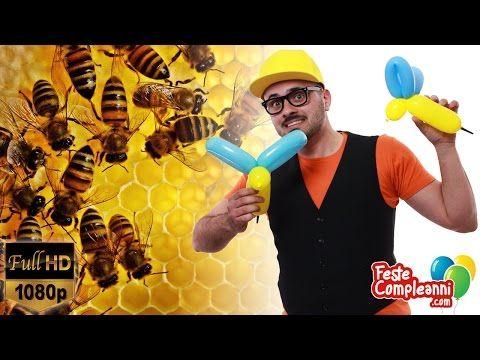 Balloon Bee - Palloncino Ape Pungiglione - Tutorial 156 - Feste Compleanni - YouTube Balloon Bee, how to make a simple bee with a special balloon. Video tutorial balloon art by Mr. Nany the balloon man. Come realizzare una scultura a forma di ape con un speciale tipo di palloncino modellabile.