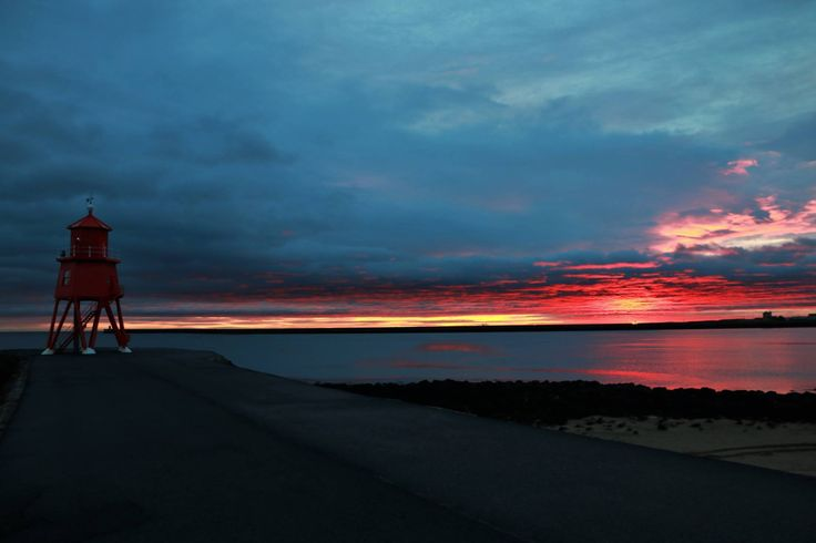 South Shields sunrise this morning.