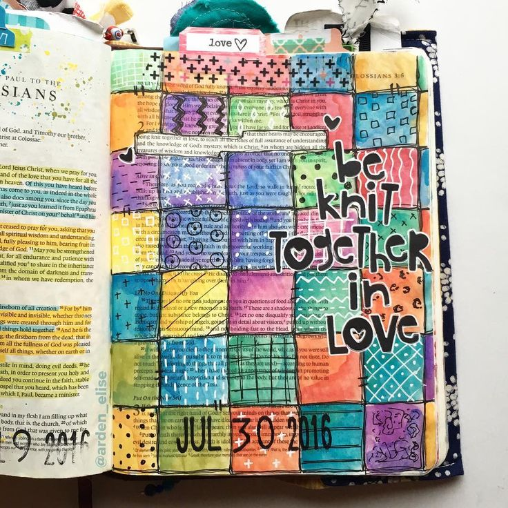 Bible Journaling by @arden_elise | Colossians 2