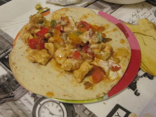 Recette Fajitas de poulet Je n'achèterai plus de sauce toute prête.  Merci Marmiton.org