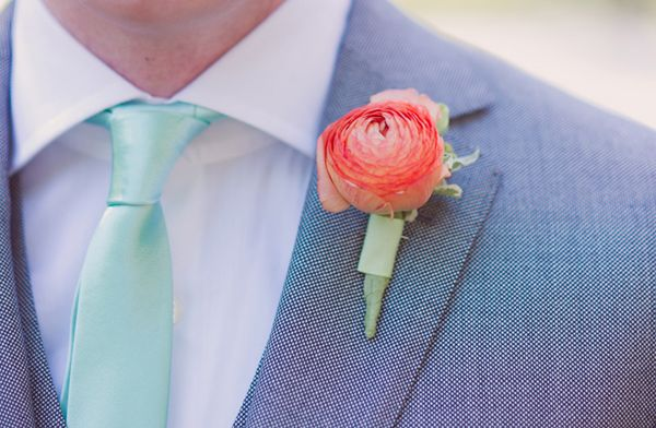 A delicious combination of aqua and coral pink - perfect for summer!