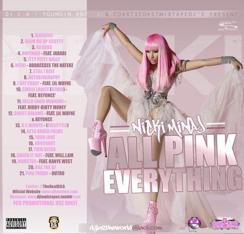 Nicki Minaj All Pink Everything Mixtape Compilation CD
