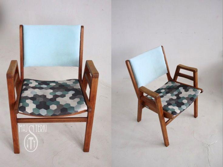 Renowacja fotela z PRL-u - Majsterki! A na siedzisku nasz PRINT AC