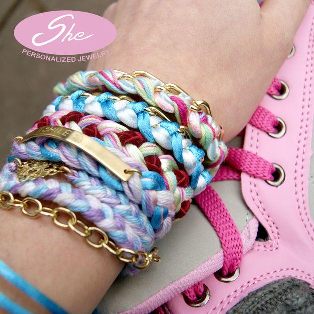 braid bracelet, personalized, string, friendship