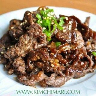 Korean BBQ Beef - Bulgogi (불고기)