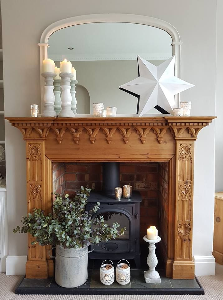 Neutral Christmas Fireplace Ideas All Items Available From Www