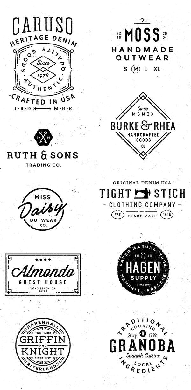 Logo/Badge Templates Vol.2 on Behance. #Logo #Branding #Identity #Badge #Vintage