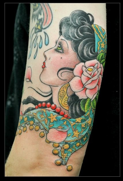 Gorgeous tattoo by Jen Lee at Ed Hardy's Tattoo City in SF.