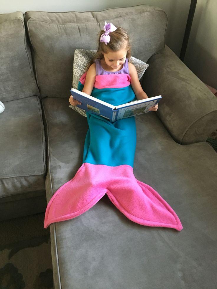 Best Christmas Gift for little girls! Mermaid Tail blankets! #mermaid #bestgift #mermaidtail #littlemermaids