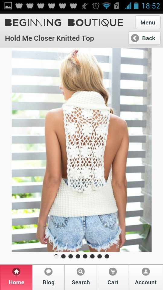 This knitted top is gorgeous